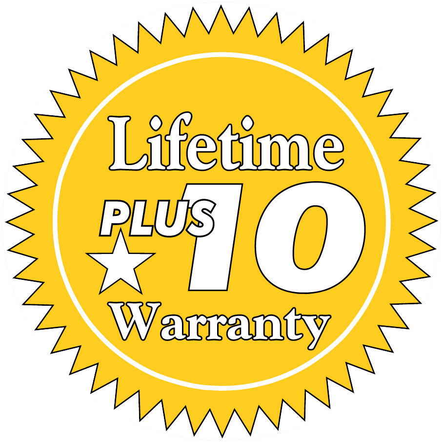 Lifetime Plus 10 Warranty Icon