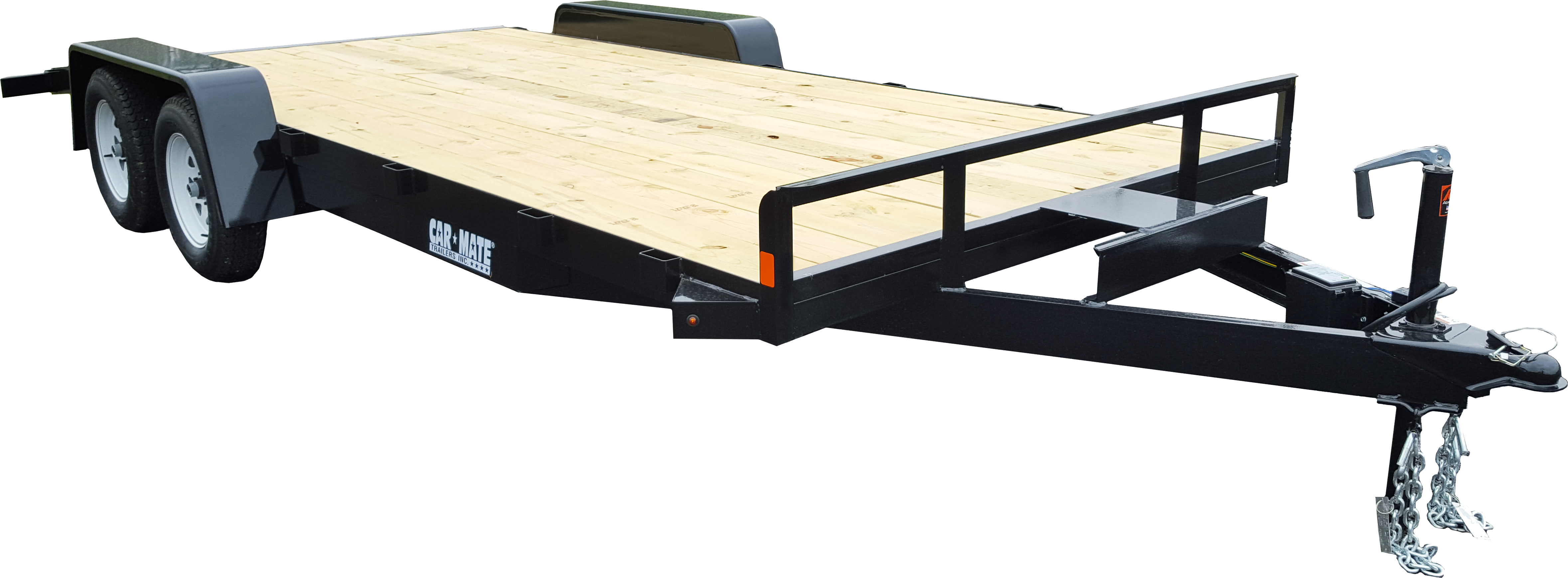 Equipment Trailer Angle Iron Open Car Full Treated Plank Deck
