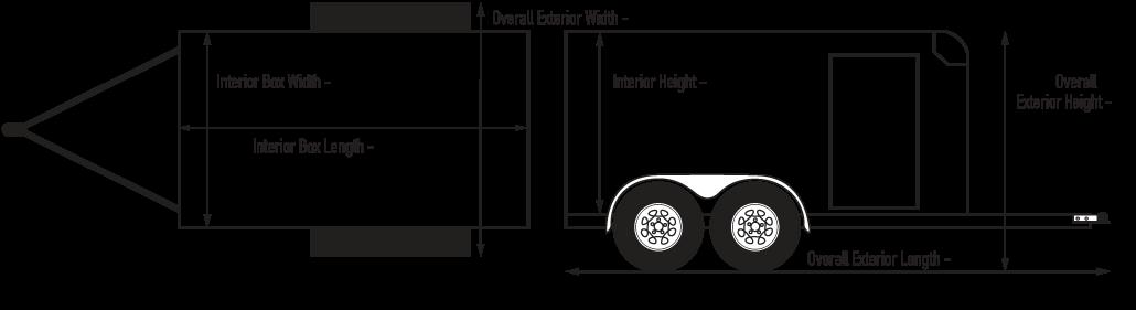 Custom Cargo 7 Wide Heavy Duty Diagram