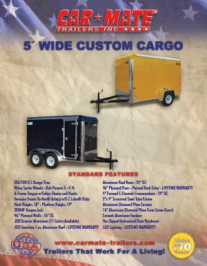 5 Wide Custom Cargo Trailer Brochure Cover