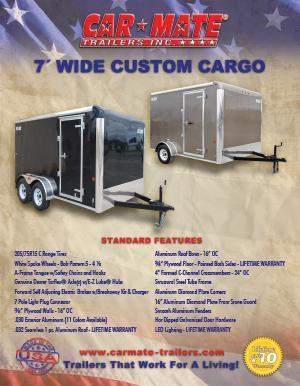 7 Wide Custom Cargo Brochure Cover