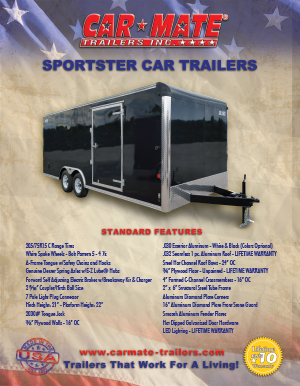 Sportster Car Trailers Brochure Cover