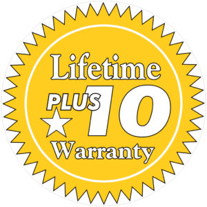 Lifetime Plus 10 Warranty Icon