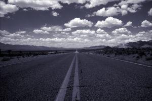 Blue Road Background