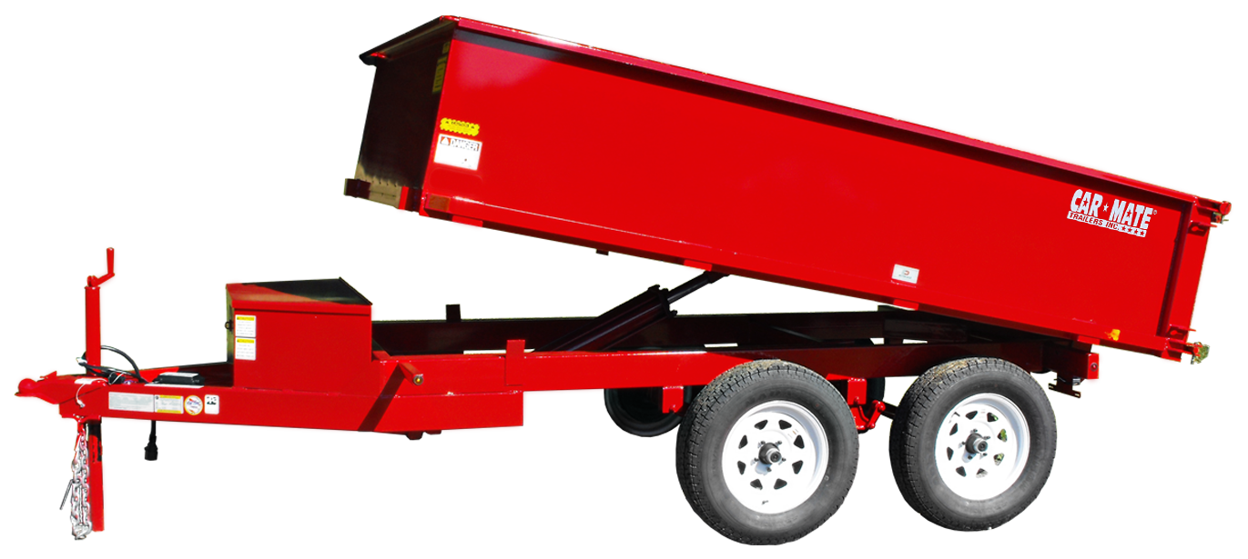 Equipment Trailer Hydraulic Dump Deck Over Wheel