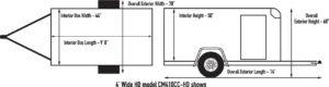 Custom Cargo 4 Wide Heavy Duty Diagram