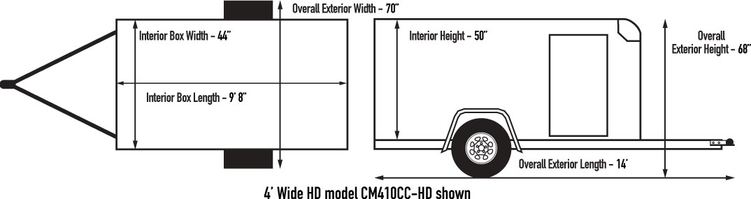 Custom Cargo 4 Wide Heavy Duty Diagram