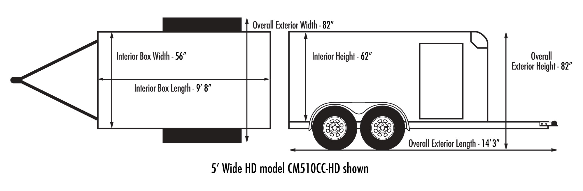 Custom Cargo 5 Wide Tandem Diagram