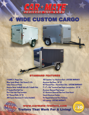 4 Wide Custom Cargo Trailer Brochure Cover