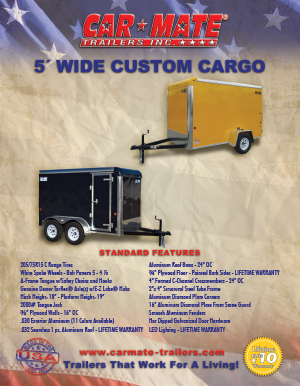 5 Wide Custom Cargo Trailer Brochure Cover