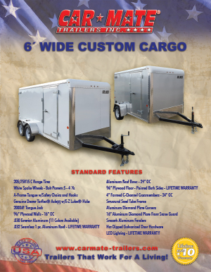 6 Wide Custom Cargo Trailer Brochure Cover