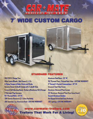 7 Wide Custom Cargo Brochure Cover