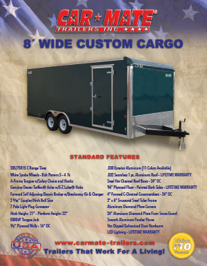 8 Wide Custom Cargo Brochure Cover