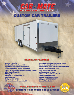 Custom Car Trailers Brochure Cover