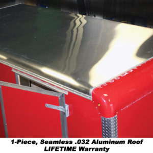 1-Piece, Seamless .032 Aluminum Roof - Lifetime Warranty