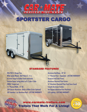 Sportster Cargo Trailers Brochure Cover