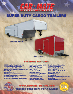 Super Duty Cargo Trailers Brochure Cover