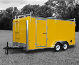 Yellow Contractor Trailer
