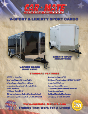 V-Sport and Liberty Sport Cargo Brochure Cover