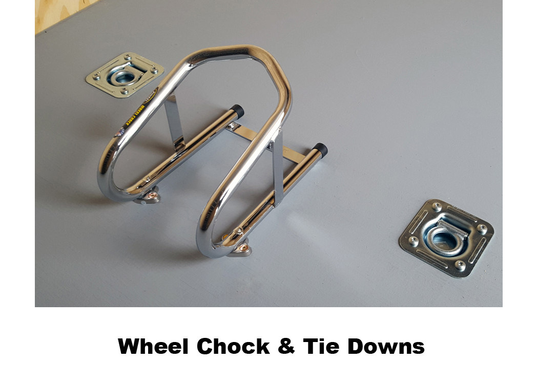 Wheel Chock & Tie Downs