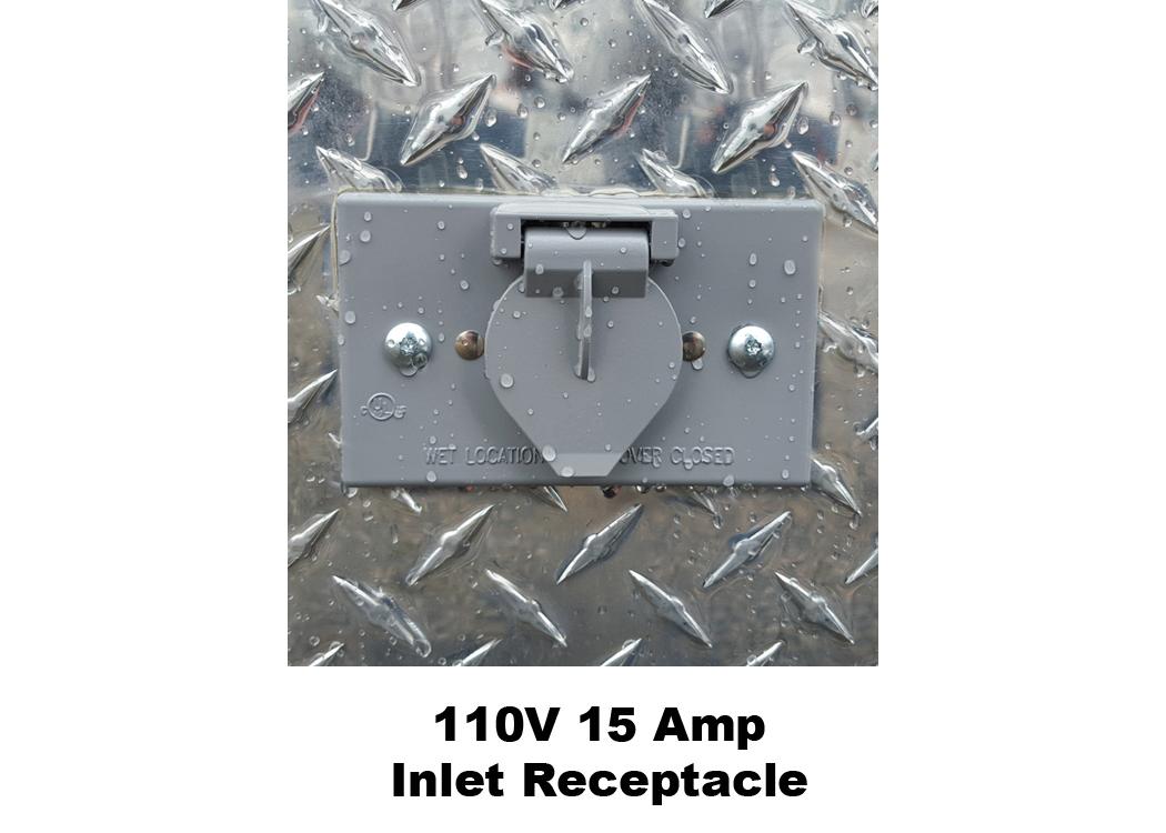 110V 15 Ampe Inlet Receptacle