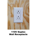 110V Duplex Wall Receptacle