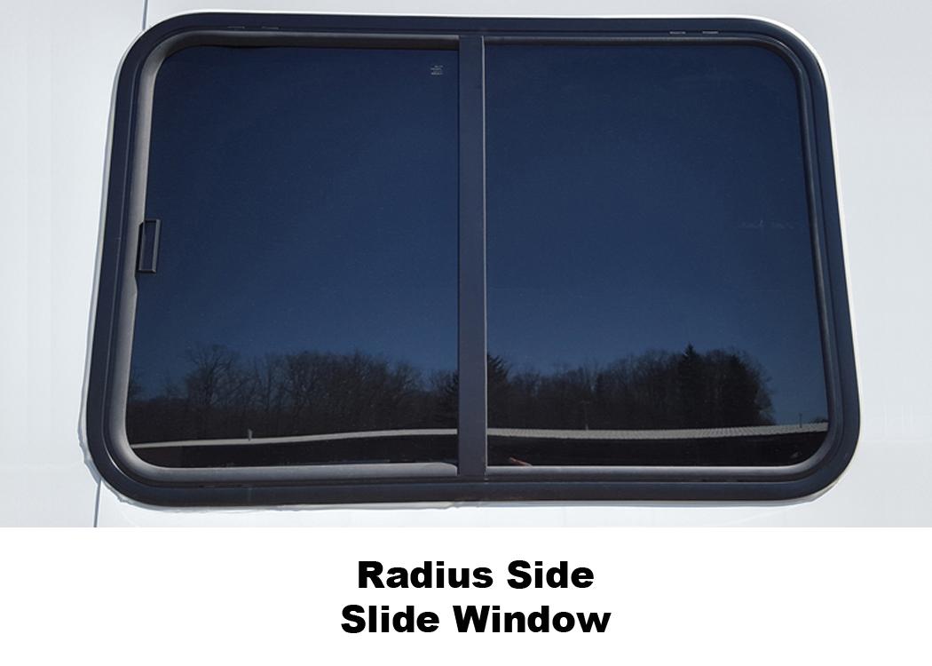 Radius Side Slide Window