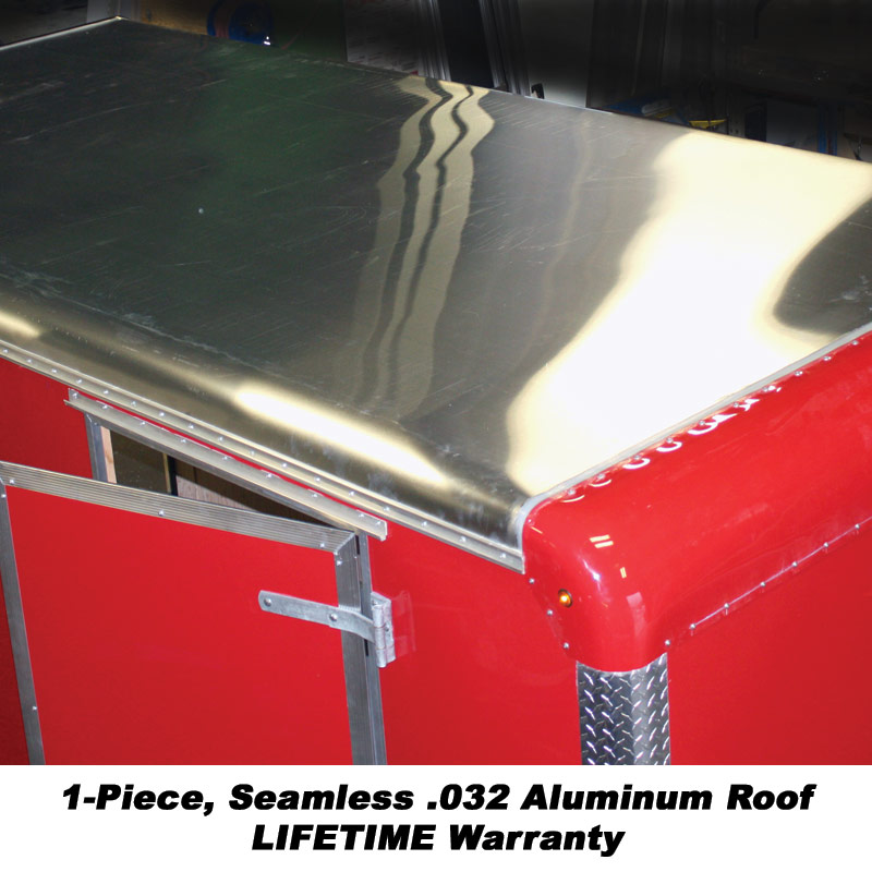 1-Piece, Seamless 0.32 Aluminum Roof LIFETIME Warranty